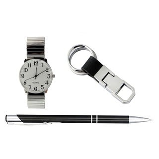 Link to Mens Silver Stretch Band Watch Key Chain Ink Pen Set Similar Items in Fine Writing Pens