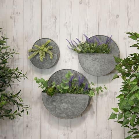 Metal wall planters (Set/3)