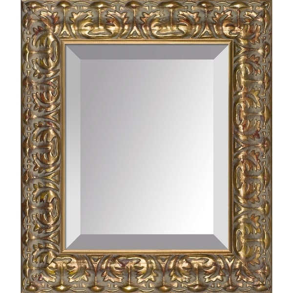 "overstockArt Golden Oak Leaf Frame Mirror - 14"" x 12"""