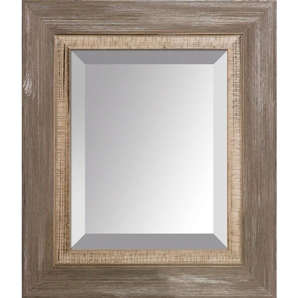 overstockArt Miramar Distressed Charcoal Grey Frame Mirror
