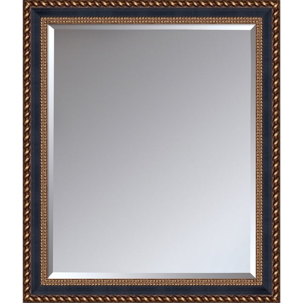 overstockArt Verona Black and Gold Braid Mirror
