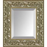 overstockArt Rococo Silver Frame Mirror