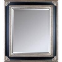 overstockArt Corinthian Aged Silver Frame Mirror