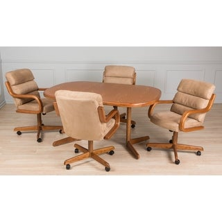 Casual Dining Waterfall Brown 5 piece Table and Chairs Set