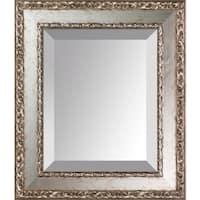 overstockArt Versailles Silver Salon Frame Mirror