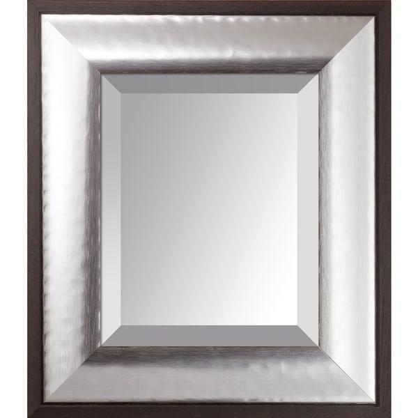 overstockArt Magnesium Silver Frame Mirror