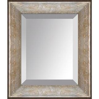 overstockArt Silver Luna Frame Mirror