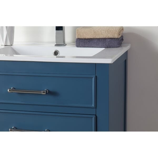 24 Tennant Brand Aruzza Small Slim Teal Blue Bathroom Vanity On Sale Overstock 29120660