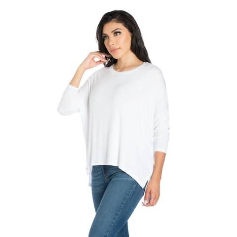 24seven Comfort Apparel Oversized Long Sleeve Dolman Top