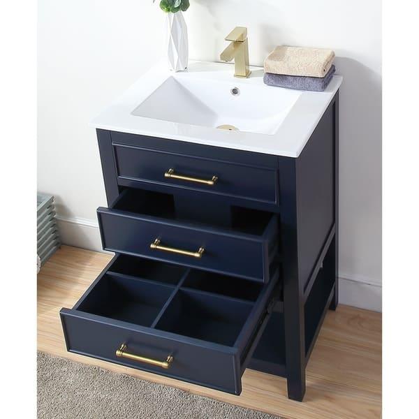 24 Tennant Brand Aruzza Slim Small Navy Blue Bathroom Vanity Overstock 29120744