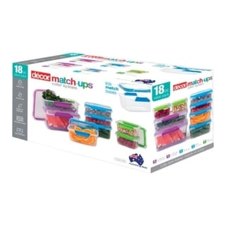 Decor  Match-ups  Assorted  Food Storage Container Set  1 pk Assorted