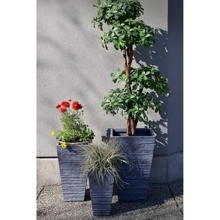 Fiber Clay Tall Square Planter -set of 3