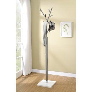 Furniture of America Gord Modern Chrome Metal 8-Hook Coat Rack