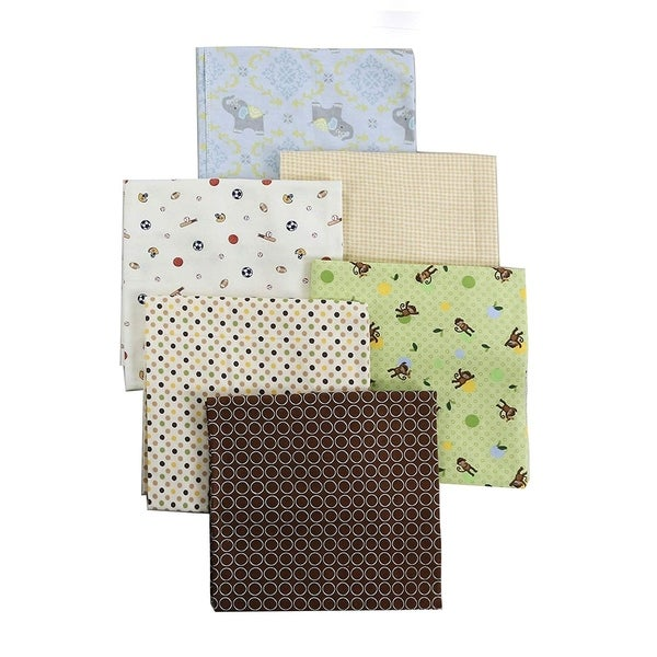 Cozy Line 6-Pack Unisex Baby Cotton Flannel Receiving Blankets - N/A. Opens flyout.