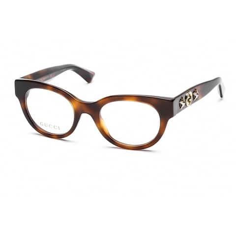 GUCCI GG0209O Unisex Havana Frame Clear Lens Eyeglasses