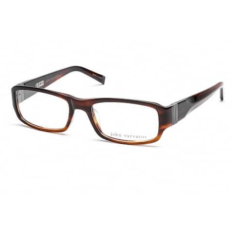 JOHN VARVATOS V341 Unisex Brown Frame Clear Lens Eyeglasses