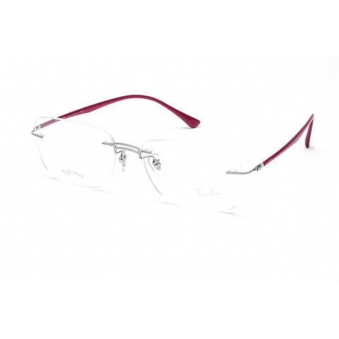 RAY BAN RX8750 Unisex Silver Frame Clear Lens Eyeglasses