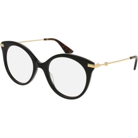 GUCCI GG0109O Unisex BLACK Frame Clear Lens Eyeglasses