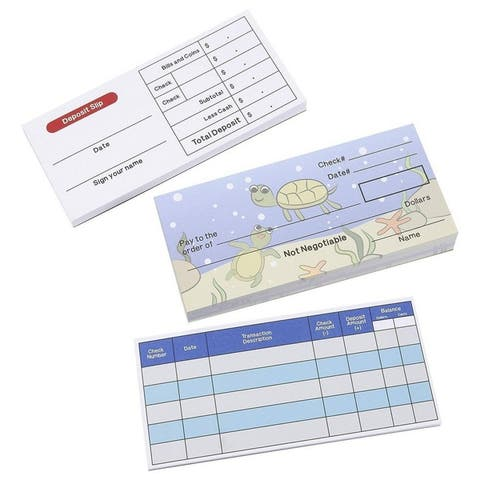 Kids Pretend and Play Checkbook Set Fun Teaching Educational Toy (150 Sheets)
