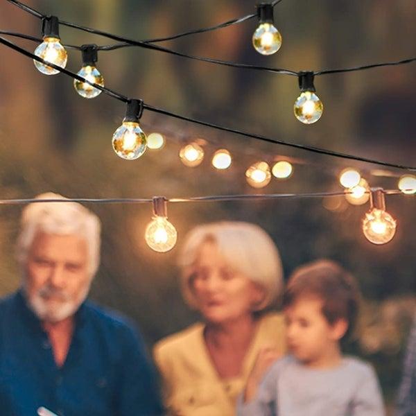 7.65m String Lights Outdoor LED Lights Hanging Lights for Garden Pergola Decks Cafe Market (25 Lights). Opens flyout.