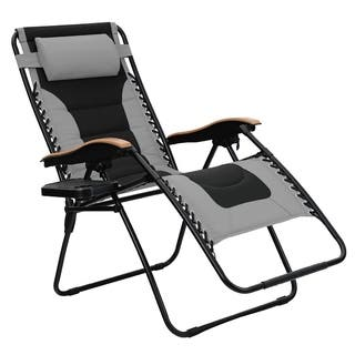 PHI VILLA Oversize XL Padded Zero Gravity Lounge Chair Wider Armrest - N/A