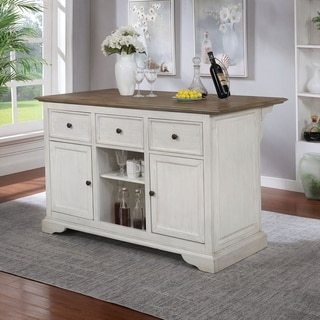Furniture of America Vess Transitional 56-inch Kitchen Island