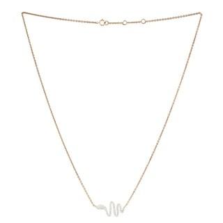 18Kt Gold Diamond Snake Choker Necklace Pave Jewelry