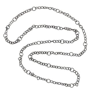 925 Sterling Silver Link Rope Lariat Necklace Designer Jewelry
