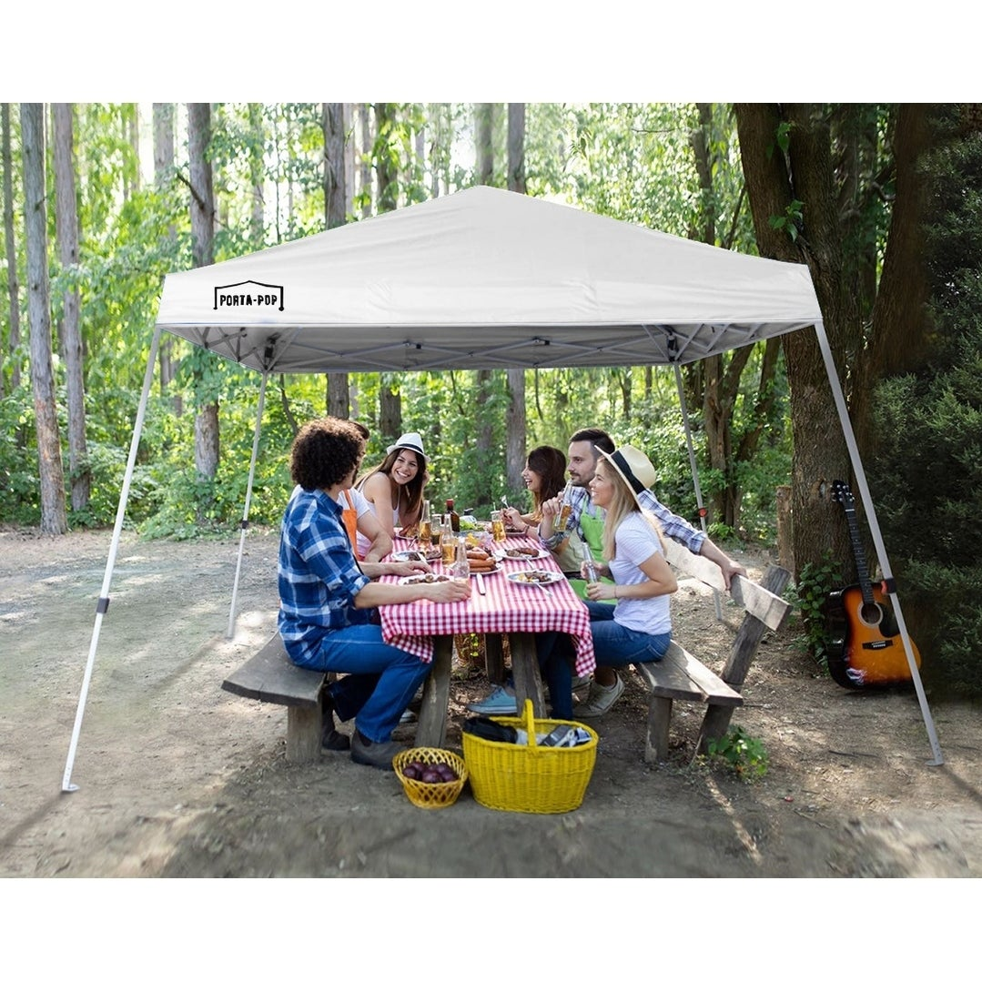 10x10ft Easy Pop-up Canopy Party Tent Slant Leg Outdoor Green