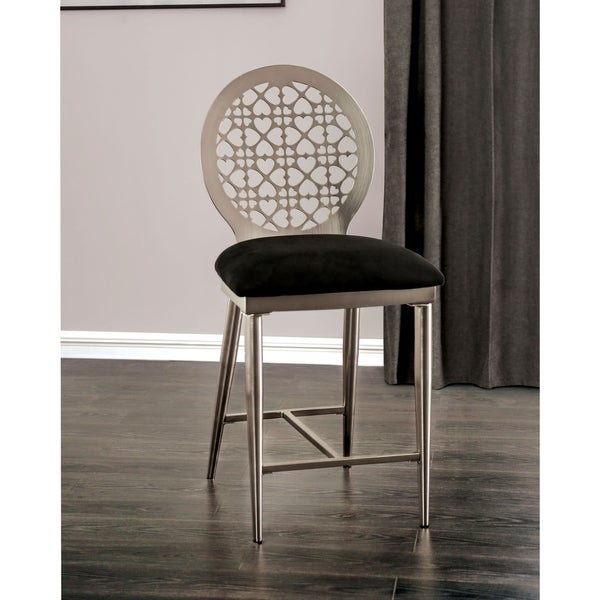 Furniture of America Tend Contemporary Silver Counter Chairs (Set of 2). Opens flyout.