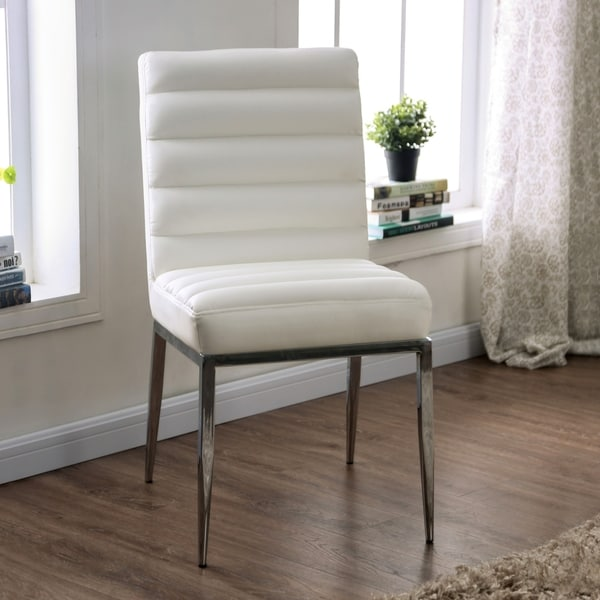 Furniture of America Zigg Contemporary White Side Chairs (Set of 2). Opens flyout.