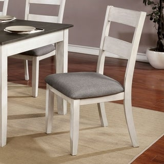 The Gray Barn Lyndale Farmhouse White Side Chairs (Set of 2)