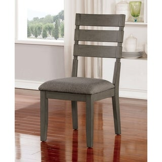 Furniture of America Jima Transitional Grey Side Chairs Set of 2