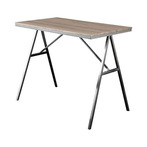 Furniture of America Brno Mid-Century Grey 47-inch Dining Table