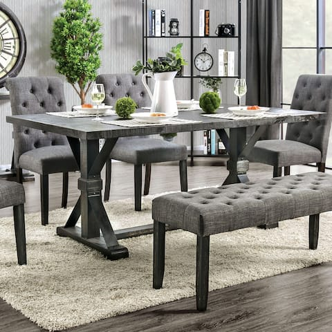 Furniture of America Chalwa Black 72-inch Dining Table