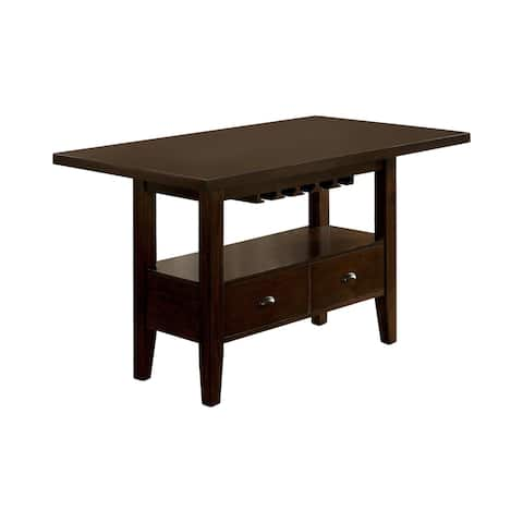 Furniture of America Riva Transitional Cherry 60-inch Dining Table