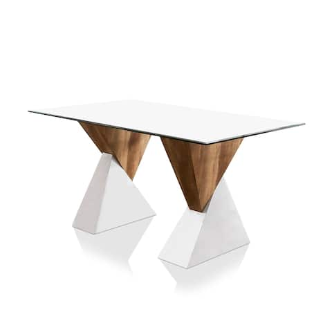 Furniture of America Bame Contemporary White 64-inch Dining Table