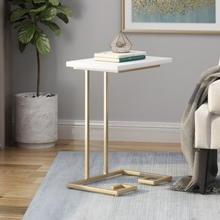 Link to Ettenmoor Modern Glam Faux Wood End Table by Christopher Knight Home Similar Items in Living Room Furniture