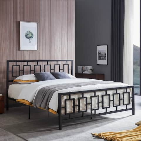 Claudia Modern Iron King Bed Frame by Christopher Knight Home