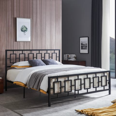 Claudia Modern King Bed Frame by Christopher Knight Home