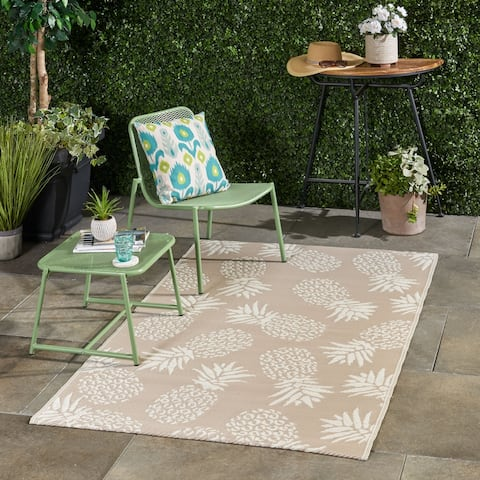 Aldea Outdoor Modern Scatter Rug by Christopher Knight Home - 4' X 6'