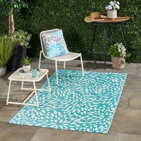 Altisma Outdoor Modern Scatter Rug by Christopher Knight Home - 4' X 6'