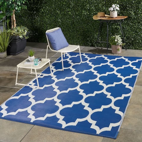 Arundel Outdoor Modern Scatter Rug by Christopher Knight Home - 6' X 9'