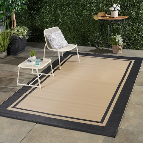 Brome Outdoor Modern Scatter Rug by Christopher Knight Home - 6' X 9'