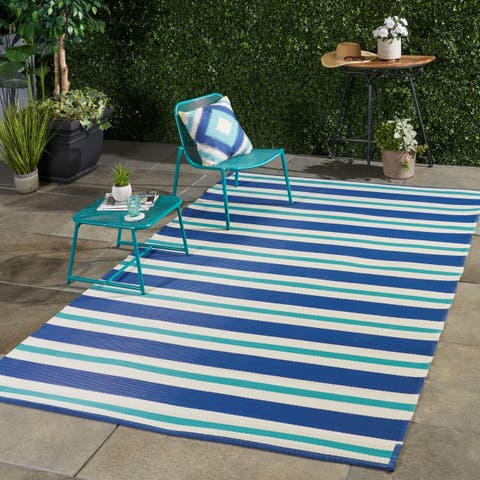 Argosy Outdoor Modern Scatter Rug by Christopher Knight Home - 6' X 9'