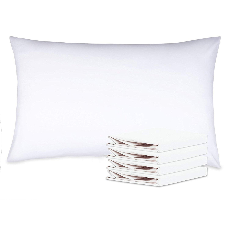 Standard Queen King Microfiber Pillow Cases NTBAY White Pillow Shams Set of 2