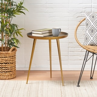 Everts Modern Aluminum Accent Table by Christopher Knight Home