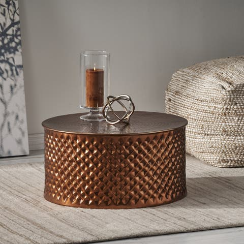 Filbert Modern Aluminum Coffee Table by Christopher Knight Home