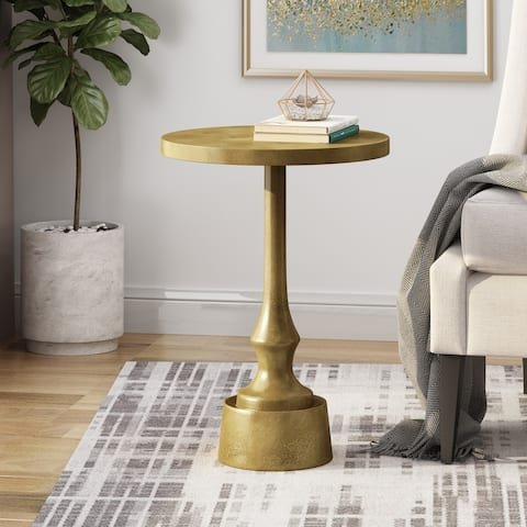 Fenkell Modern Handcrafted Aluminum Accent Table by Christopher Knight Home