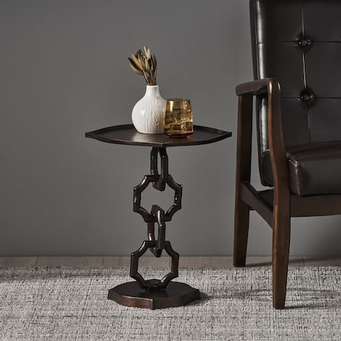 Ewald Modern Aluminum Accent Table by Christopher Knight Home